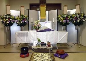 直葬祭壇例