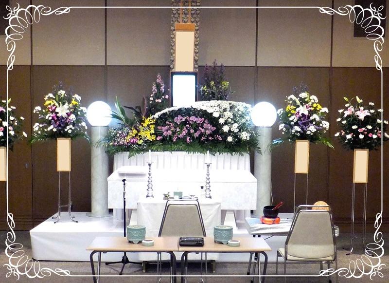 家族葬 花祭壇例1