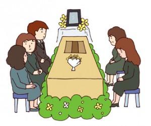 家族葬 イラスト2